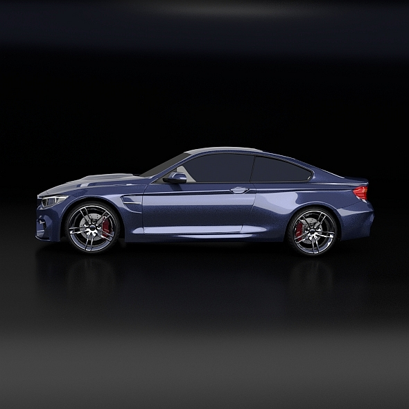 bmw m4 redesigned 3d model 3ds fbx blend dae obj 205394
