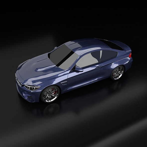 bmw m4 redesigned 3d model 3ds fbx blend dae obj 205396