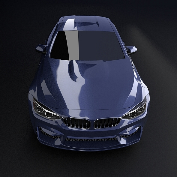 bmw m4 redesigned 3d model 3ds fbx blend dae obj 205397