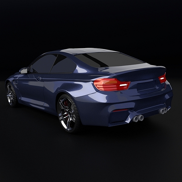 bmw m4 redesigned 3d model 3ds fbx blend dae obj 205398