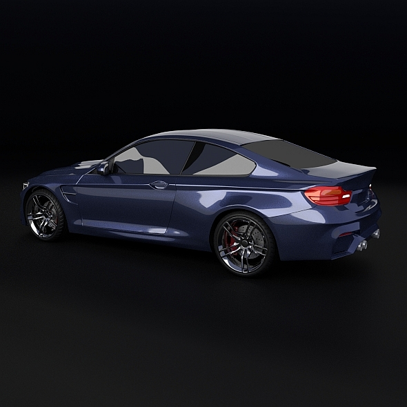 bmw m4 redesigned 3d model 3ds fbx blend dae obj 205399