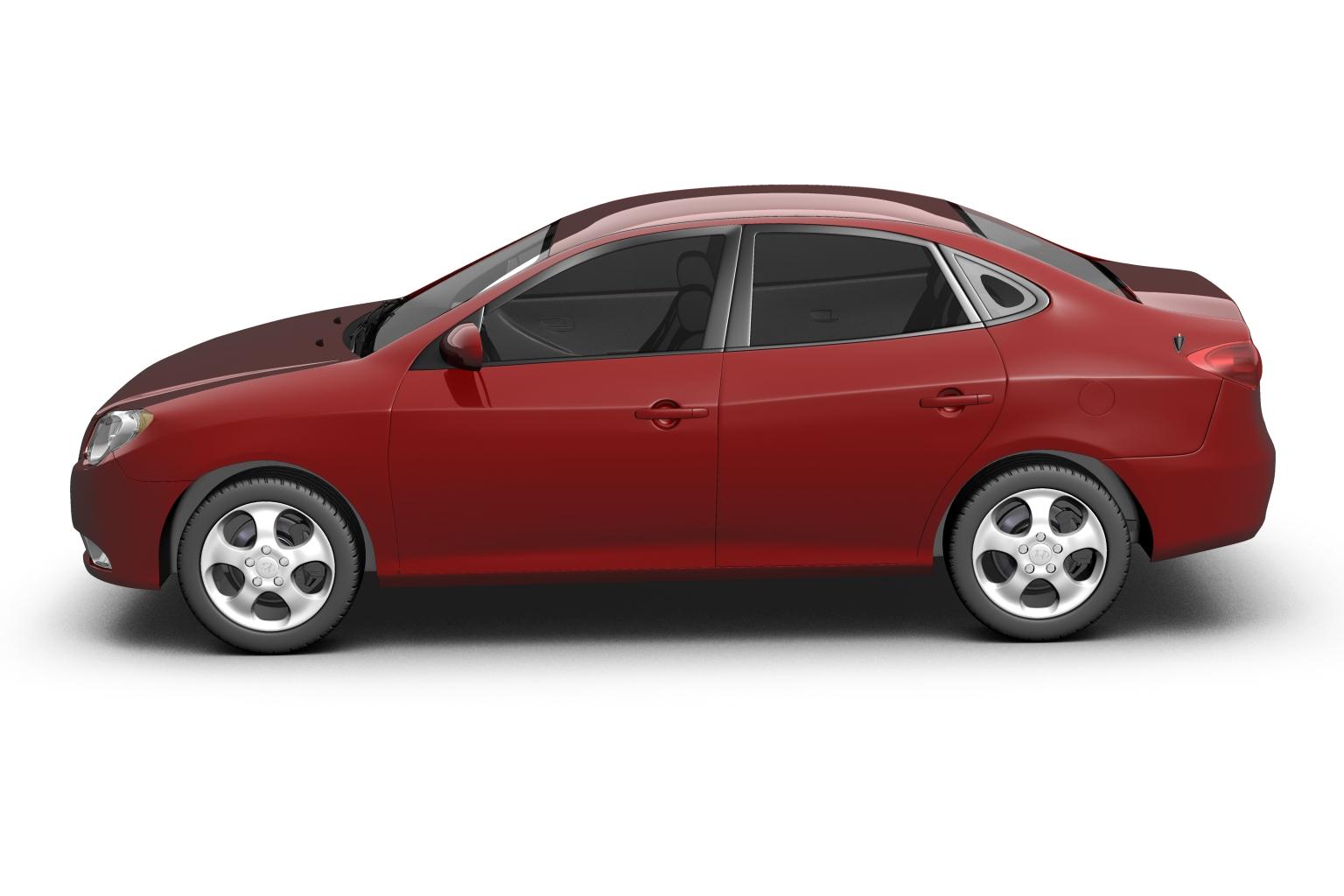 2007 hyundai elantra (avante) Model 3d 3ds max fbx lwo hrc xsi obj 205403