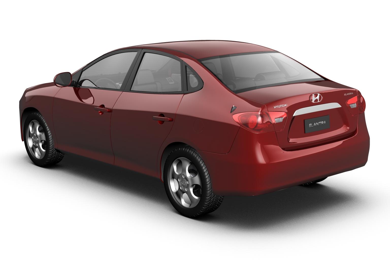 2007 hyundai elantra (avante) Model 3d 3ds max fbx lwo hrc xsi obj 205404