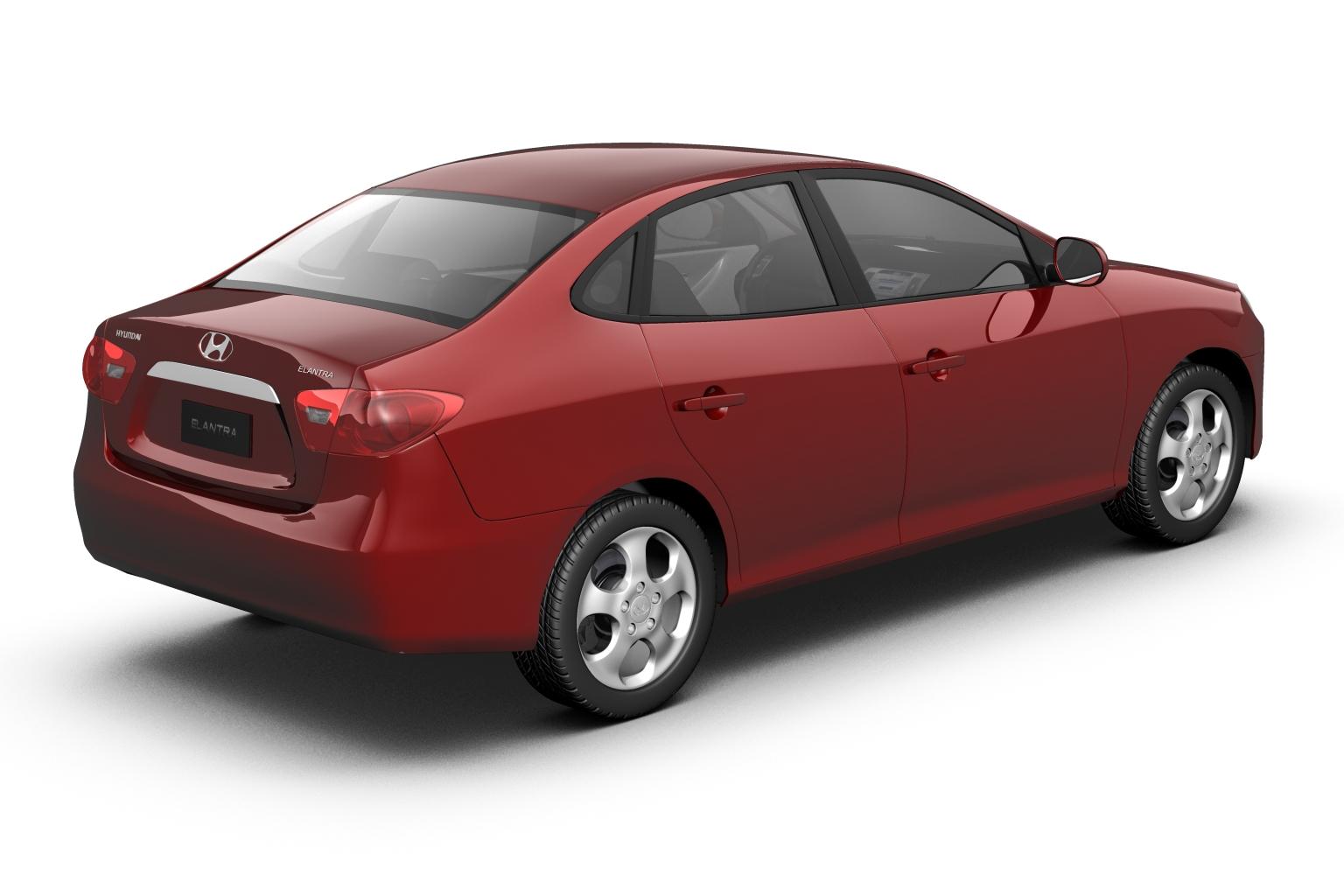 2007 hyundai elantra (avante) Model 3d 3ds max fbx lwo hrc xsi obj 205406