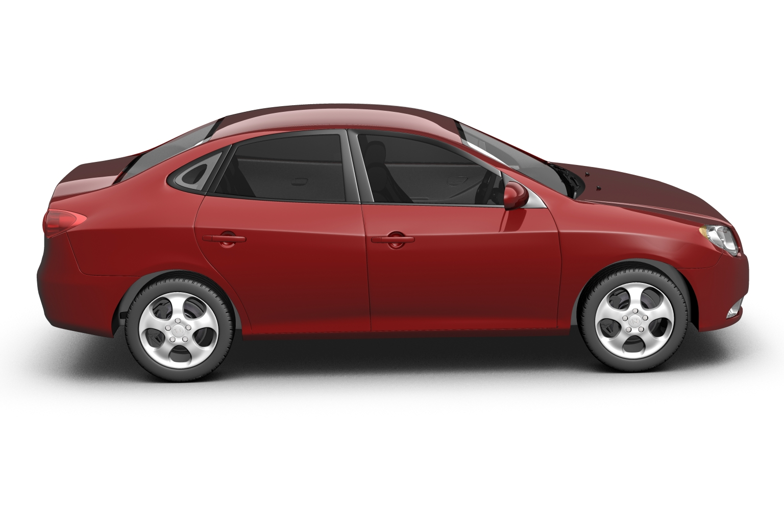 2007 hyundai elantra (avante) Model 3d 3ds max fbx lwo hrc xsi obj 205407