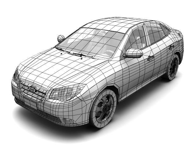 2007 hyundai elantra (avante) Model 3d 3ds max fbx lwo hrc xsi obj 205410