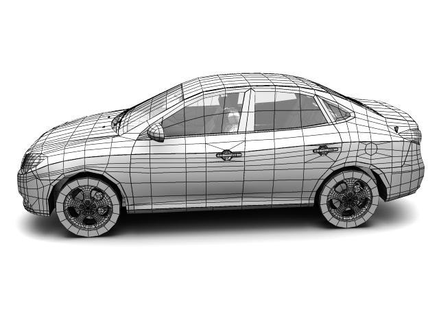 2007 hyundai elantra (avante) Model 3d 3ds max fbx lwo hrc xsi obj 205411