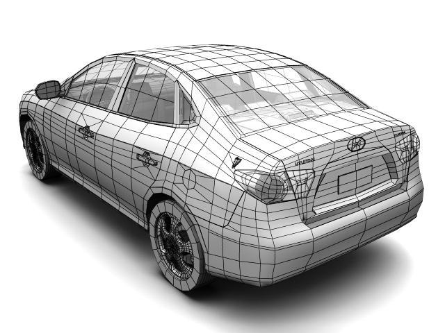 2007 hyundai elantra (avante) Model 3d 3ds max fbx lwo hrc xsi obj 205412