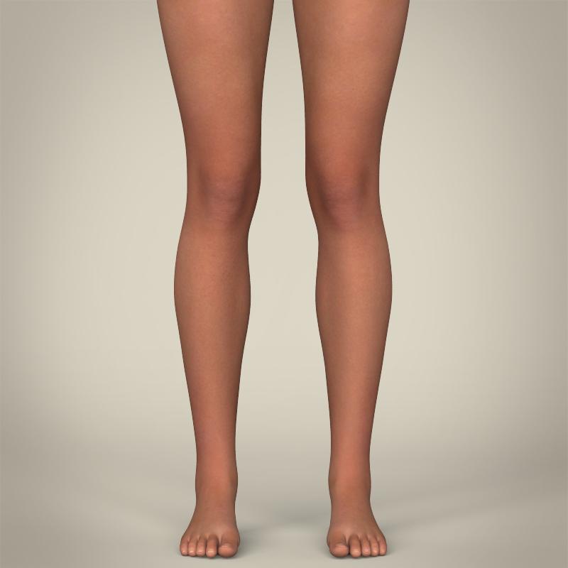 realistic young beach sports girl 3d model 3ds max fbx c4d lwo ma mb texture obj 205418