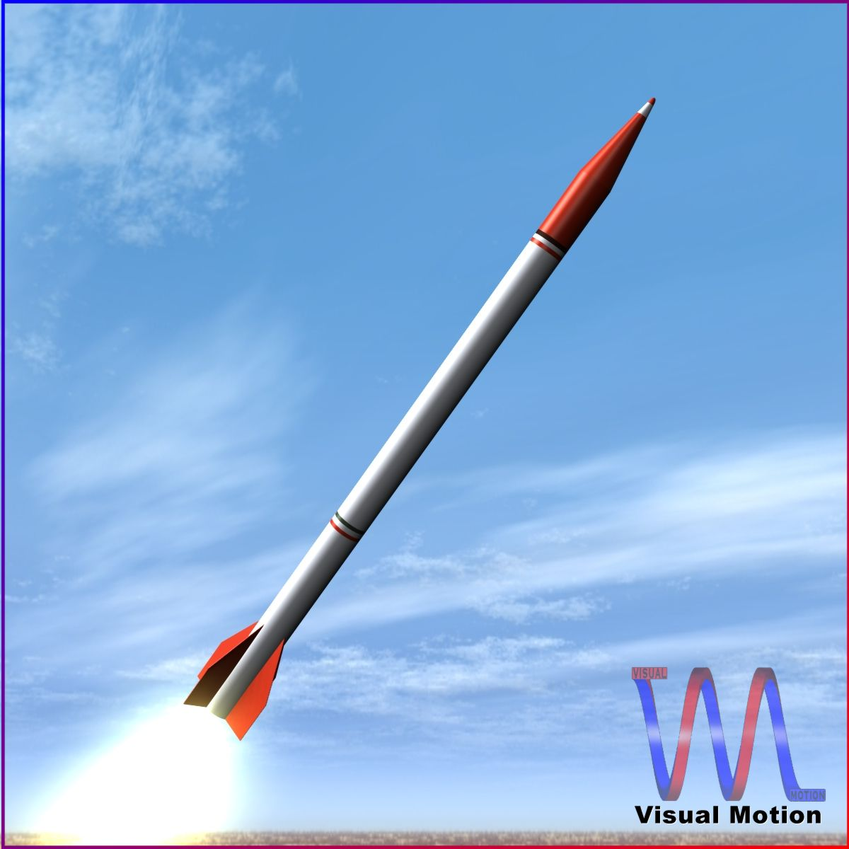 oghab rocket 3d model 3ds dxf fbx blend cob dae x  obj 205492