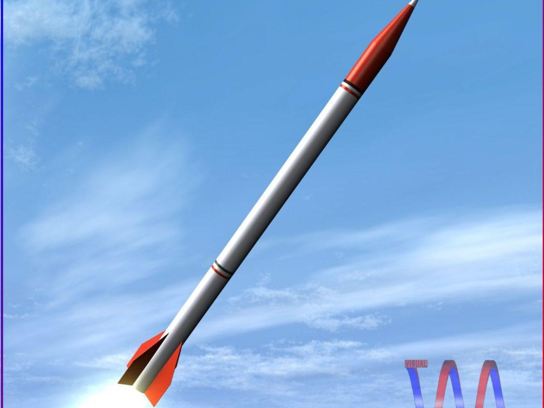 Oghab Rocket 3d model 0