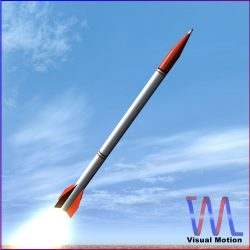 Oghab Rocket 3d model 0