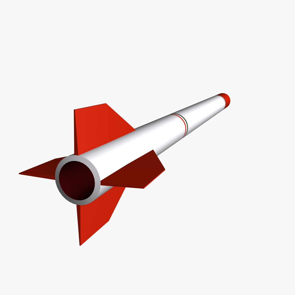 oghab rocket 3d model 3ds dxf fbx blend cob dae x  obj 205494