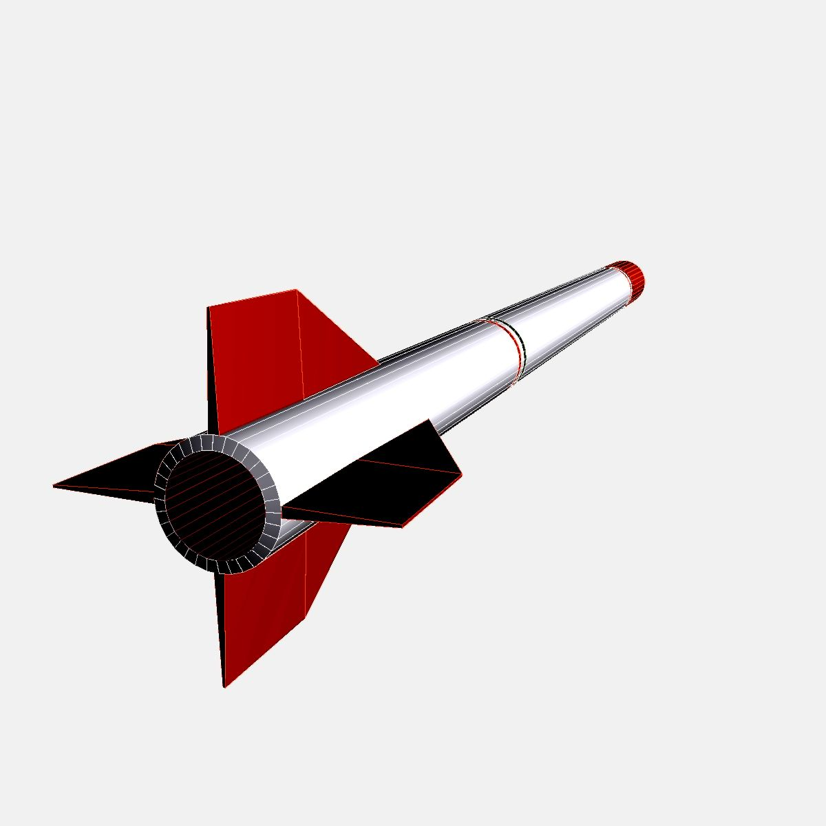 oghab rocket 3d model 3ds dxf fbx blend cob dae x  obj 205497