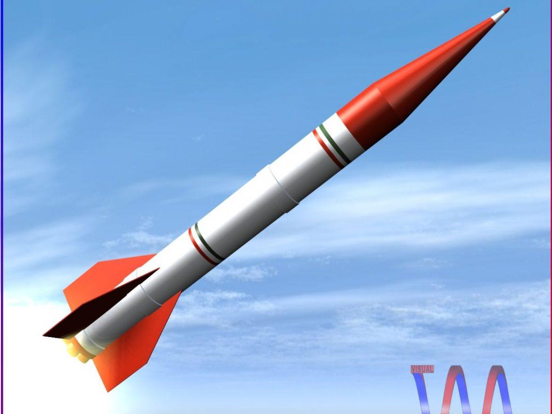 Shahin II Rocket 3d model 0