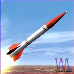 Shahin II Rocket 3d model 0