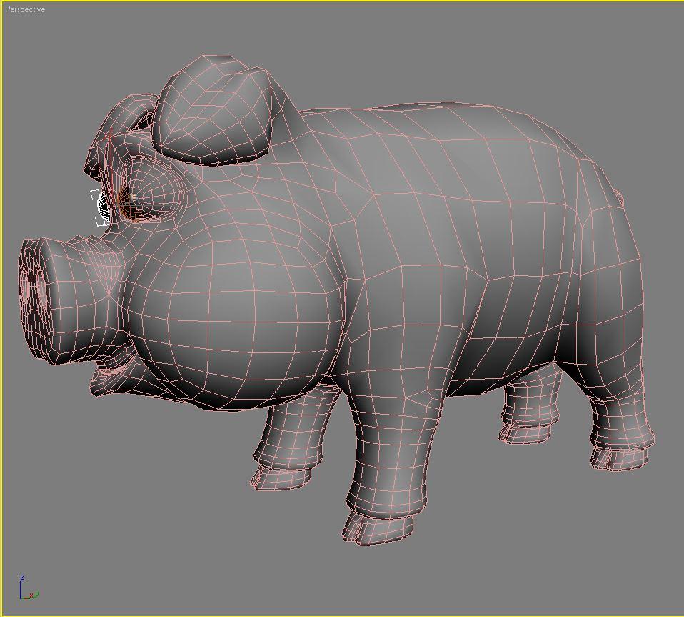 хүүхэлдэйн гахайн 3d загвар 3ds max fbx obj 205533