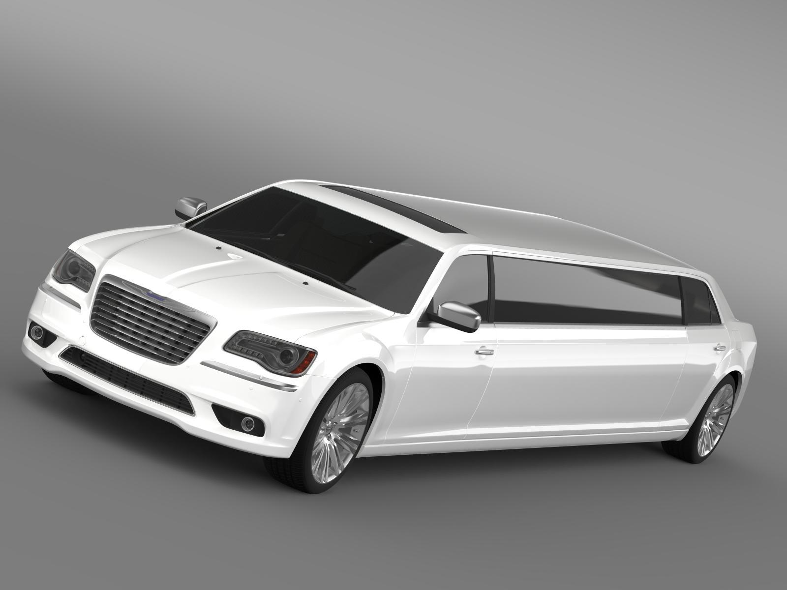 chrysler 300c 2013 limuzina 3d model 3ds max fbx c4d lwo ma mb hrc xsi obj 205612