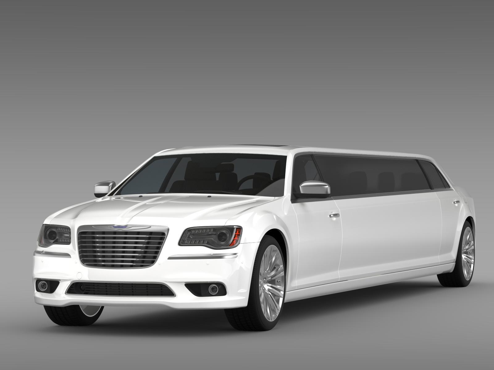 chrysler 300c 2013 limousine 3d model buy chrysler 300c. Black Bedroom Furniture Sets. Home Design Ideas