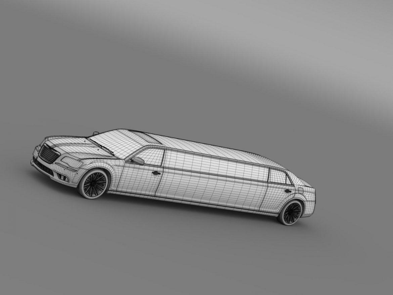 chrysler 300c 2013 limousine 3d model 3ds max fbx c4d lwo ma mb hrc xsi obj 205627
