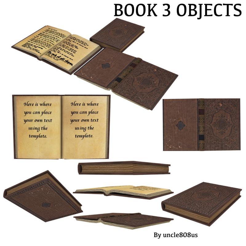 book 3d model obj 205671