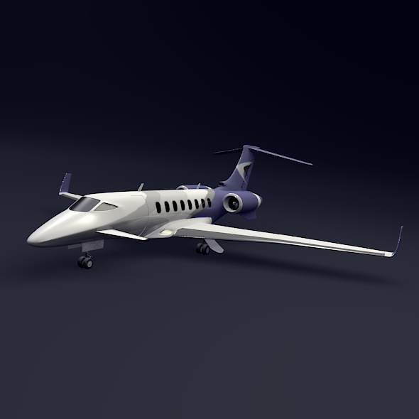 private jet aircraft concept 3d model 3ds fbx blend dae lwo obj 205696