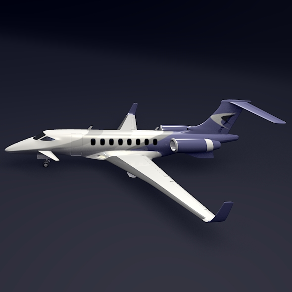 private jet aircraft concept 3d model 3ds fbx blend dae lwo obj 205697