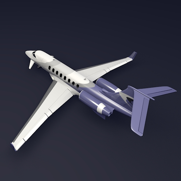 private jet aircraft concept 3d model 3ds fbx blend dae lwo obj 205698