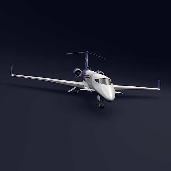 private jet aircraft concept 3d model 3ds fbx blend dae lwo obj 205699