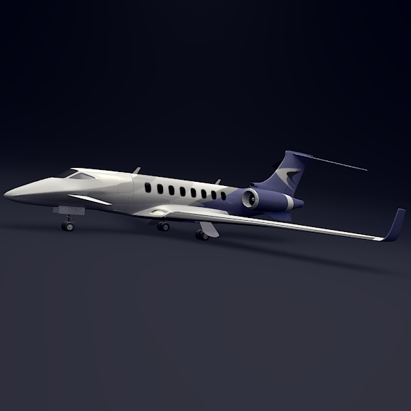 private jet aircraft concept 3d model 3ds fbx blend dae lwo obj 205700