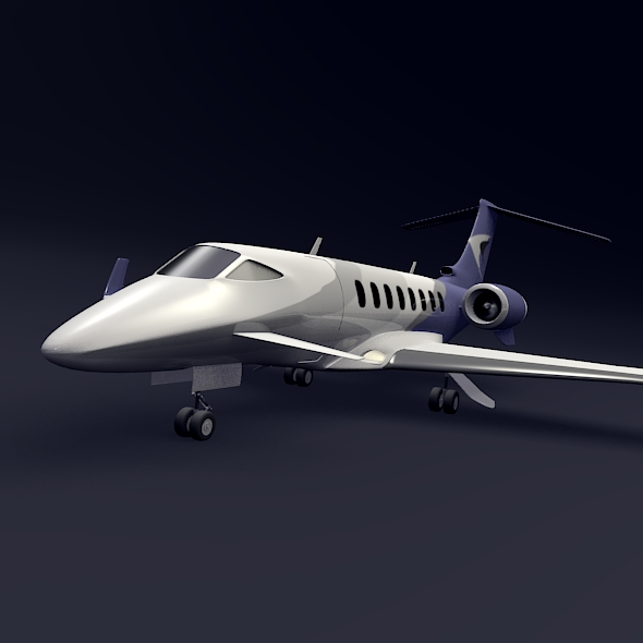 private jet aircraft concept 3d model 3ds fbx blend dae lwo obj 205701