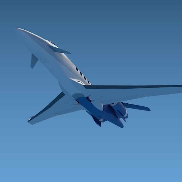 private jet aircraft concept 3d model 3ds fbx blend dae lwo obj 205702