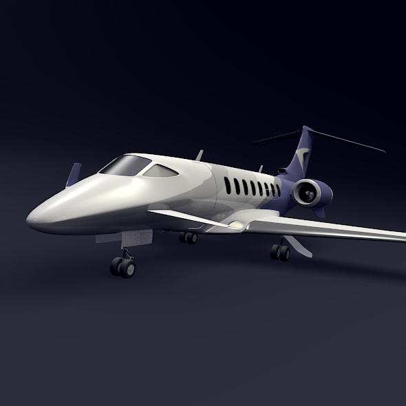 Private jet aircraft concept ( 69.47KB jpg by futurex3d )