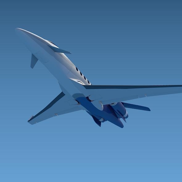 Private jet aircraft concept ( 73.58KB jpg by futurex3d )