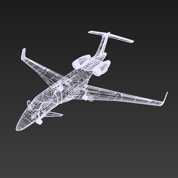 Private jet aircraft concept ( 91.62KB jpg by futurex3d )