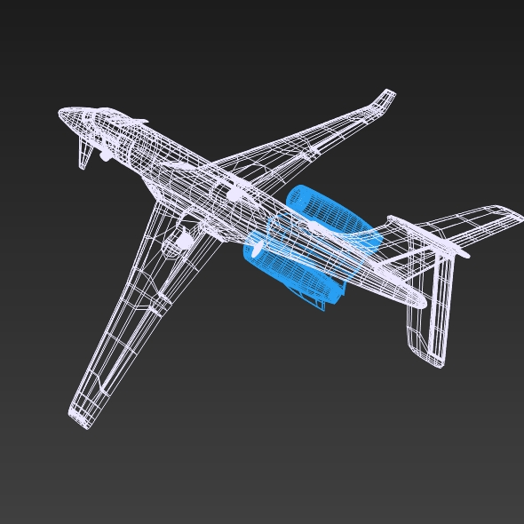 Private jet aircraft concept ( 125.34KB jpg by futurex3d )
