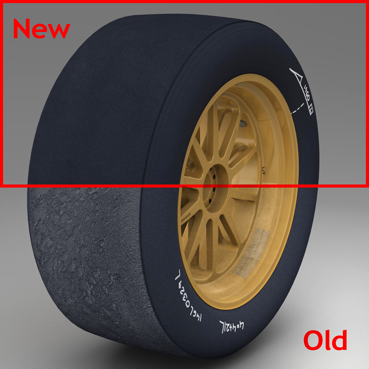 18 inches front tyre 3d model 3ds max fbx c4d ma mb obj 205726