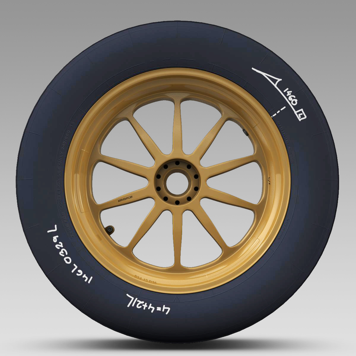 18 inches front tyre 3d model 3ds max fbx c4d ma mb obj 205727