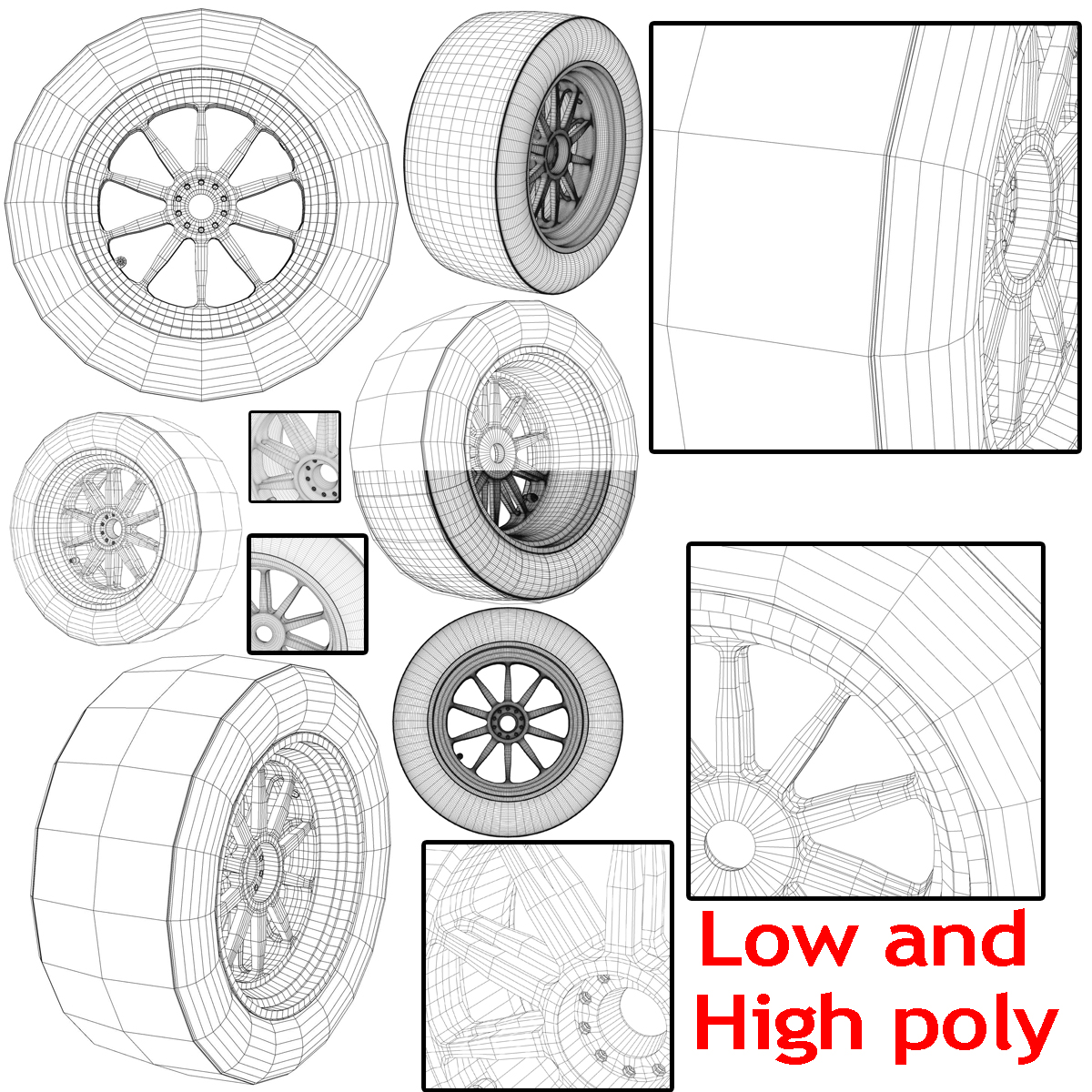 18 inches front tyre 3d model 3ds max fbx c4d ma mb obj 205730
