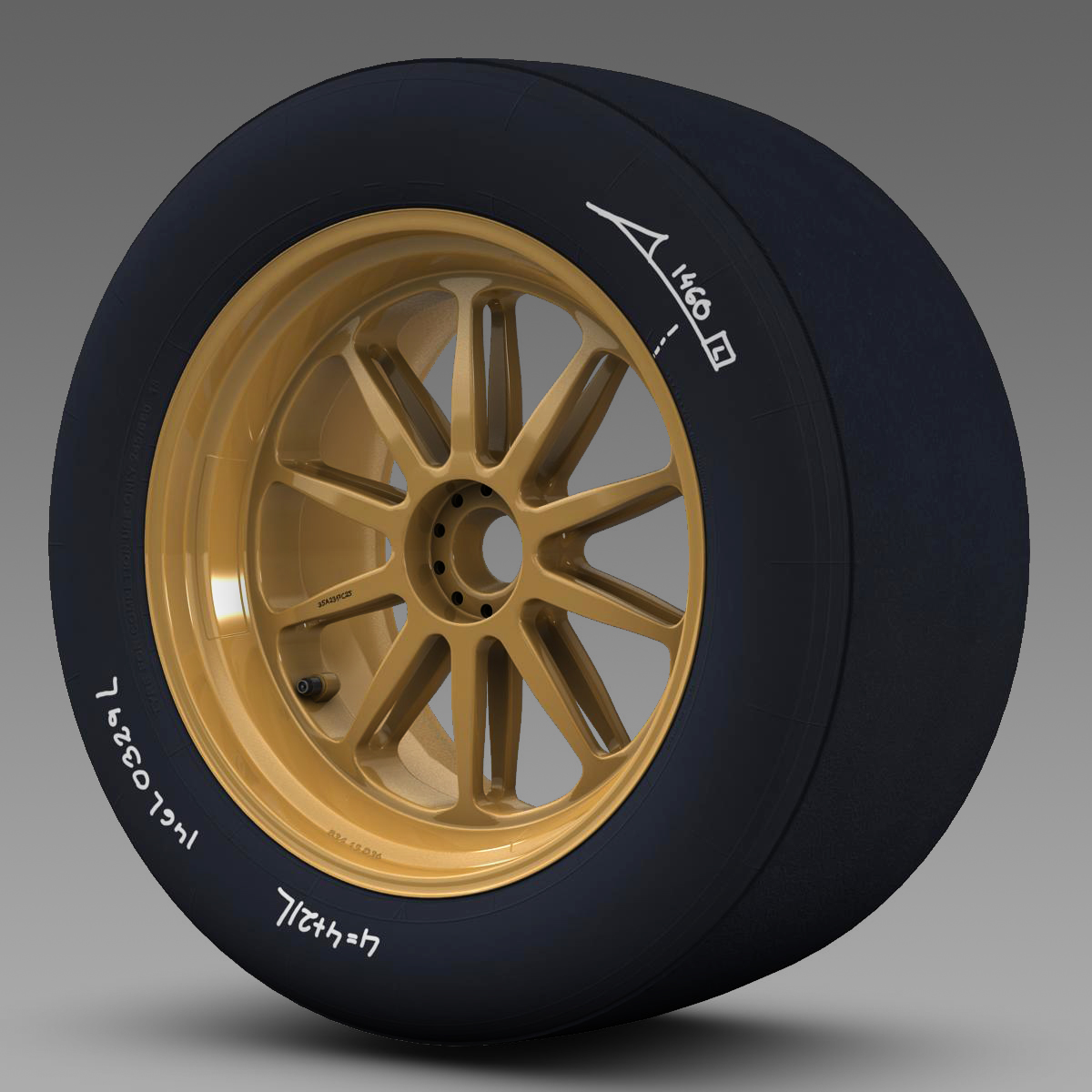 18 inches front tyre 3d model 3ds max fbx c4d ma mb obj 205734