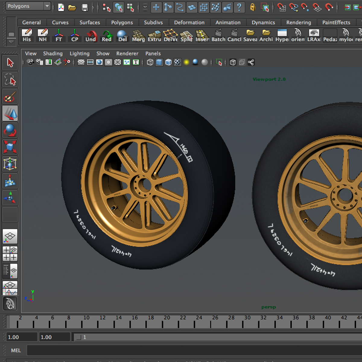 18 inches front tyre 3d model 3ds max fbx c4d ma mb obj 205735