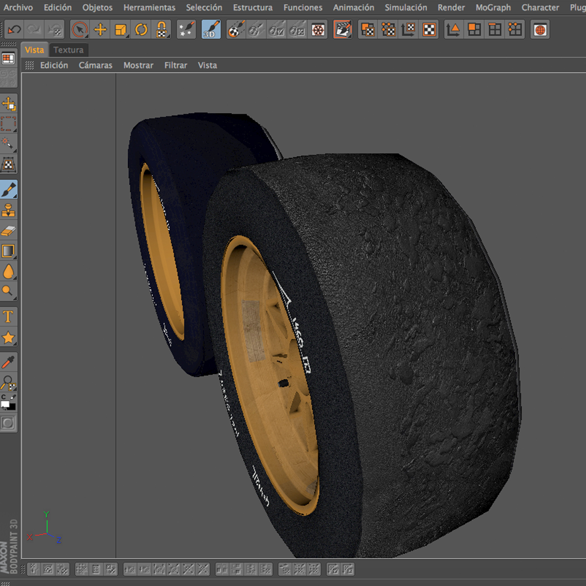 18 inches front tyre 3d model 3ds max fbx c4d ma mb obj 205736