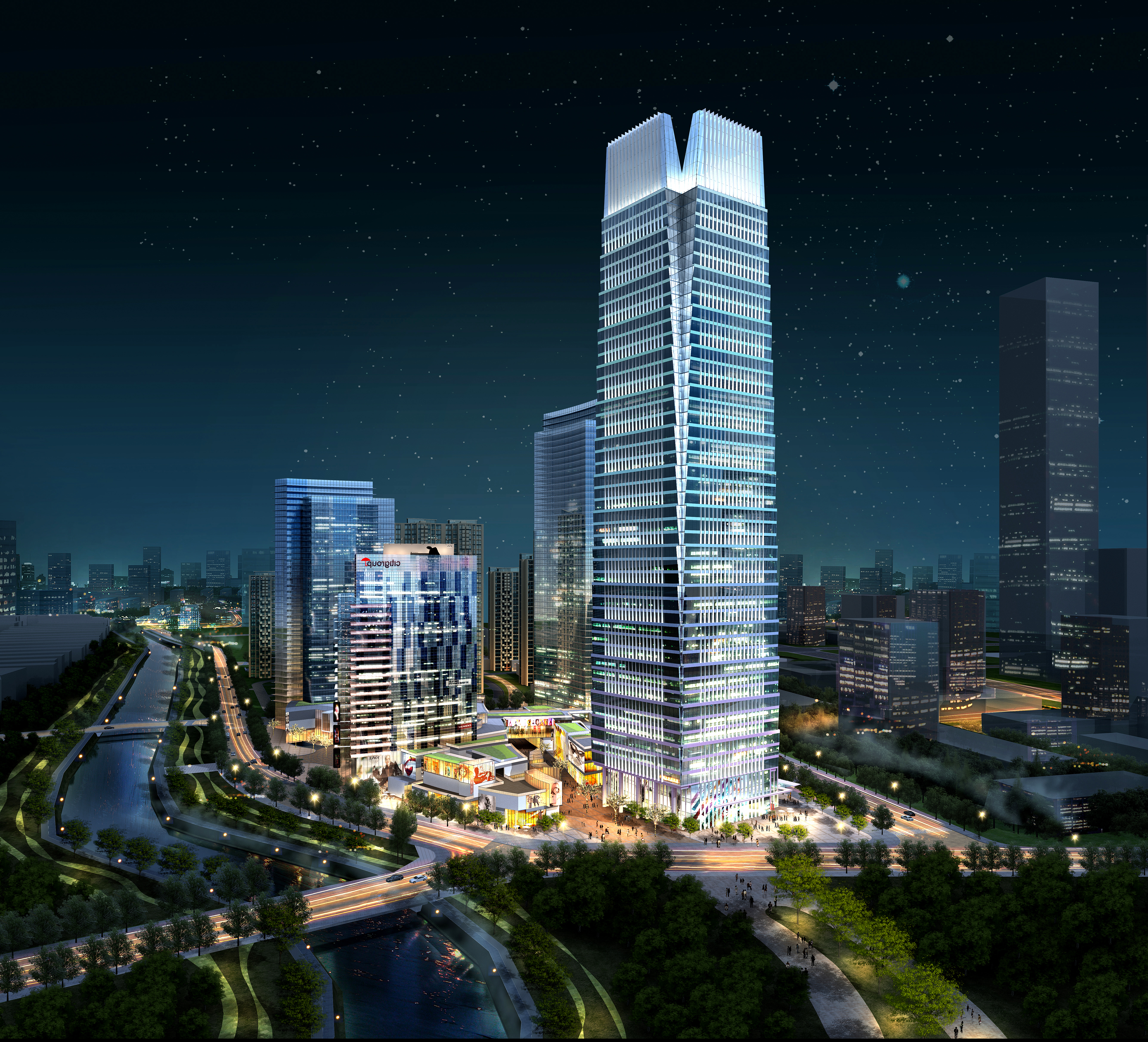 skyscraper business center 014 3d model max 205905