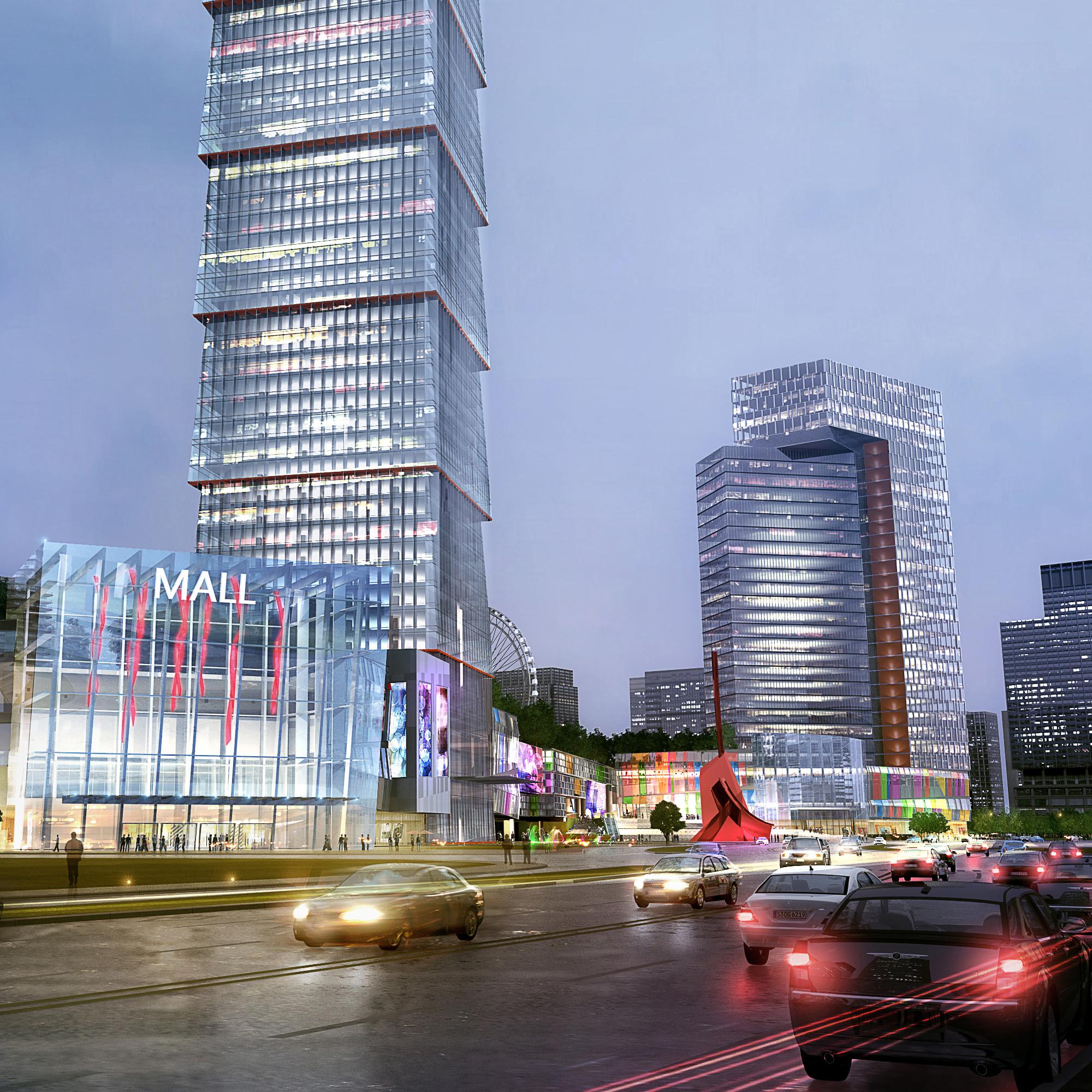 skyscraper business center 023 3d model max 205950