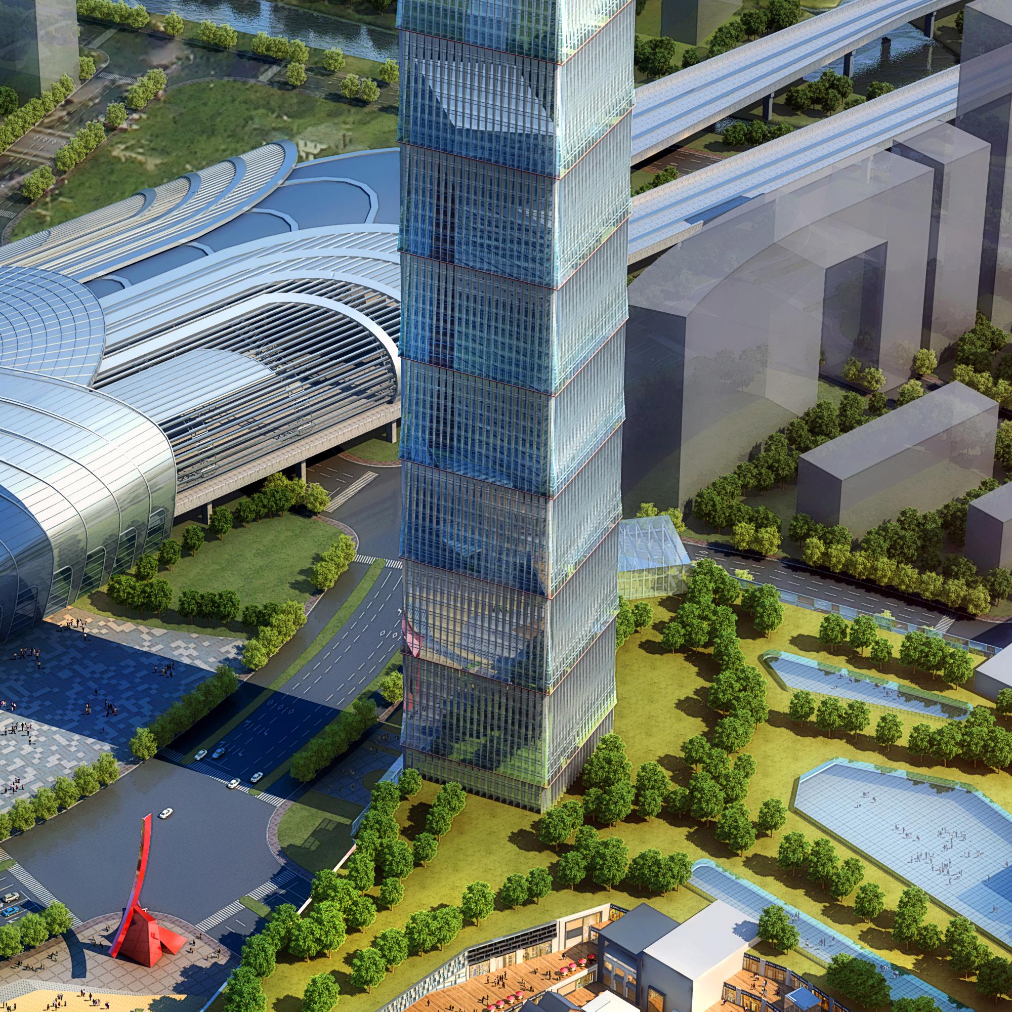 skyscraper business center 023 3d model max 205951