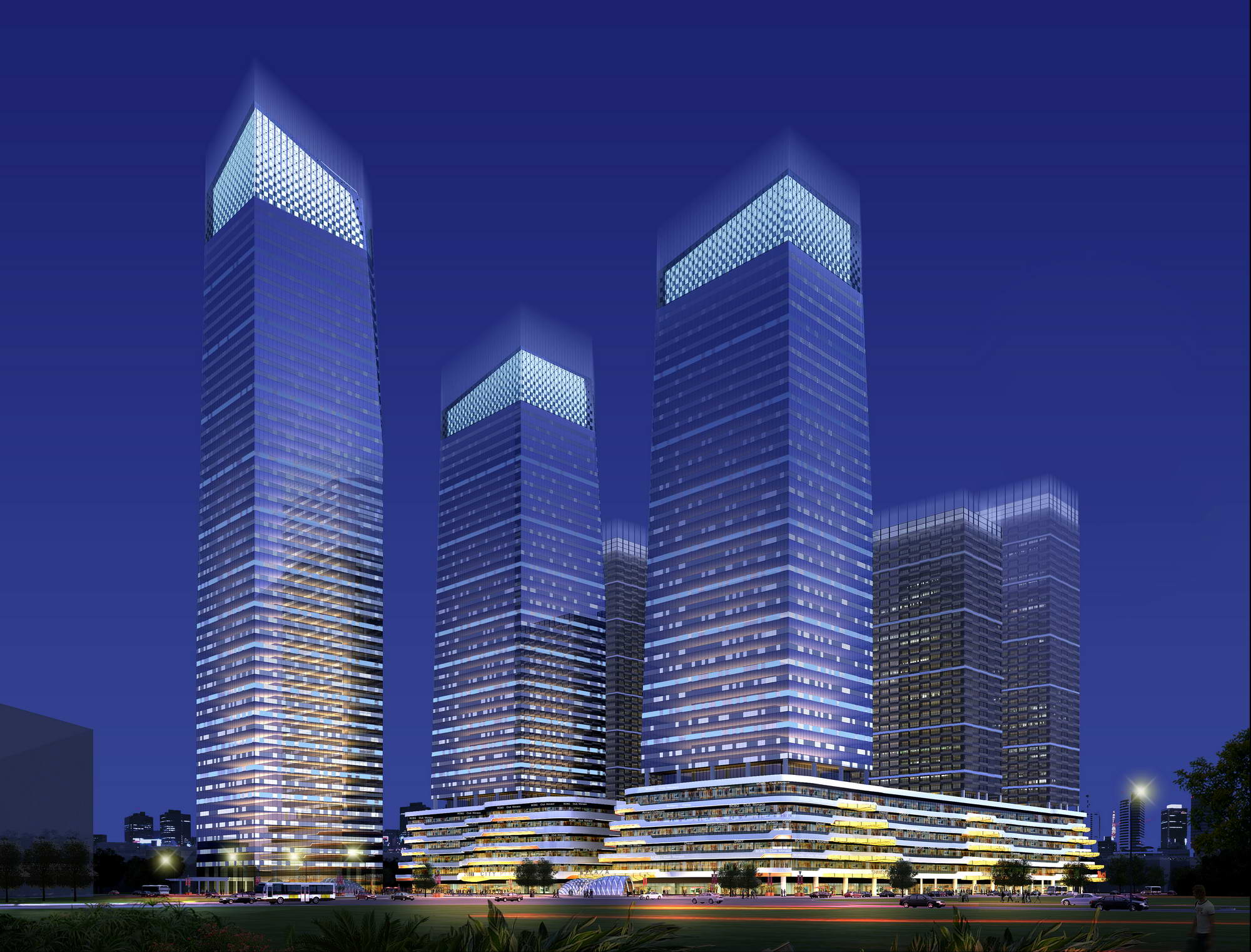 skyscraper business center 015 3d model max psd 205986