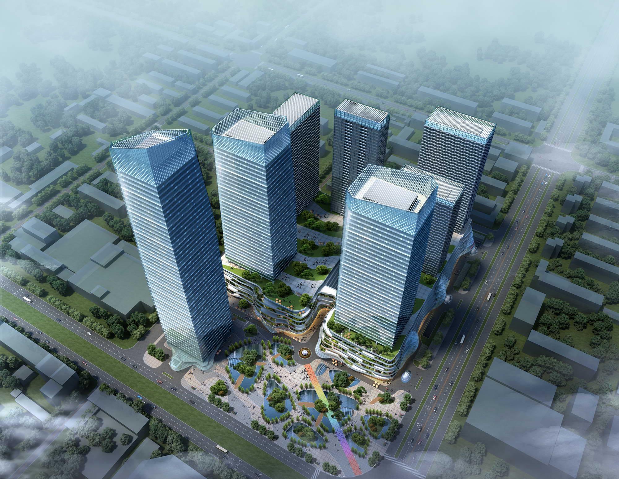 skyscraper business center 015 3d model max psd 205987