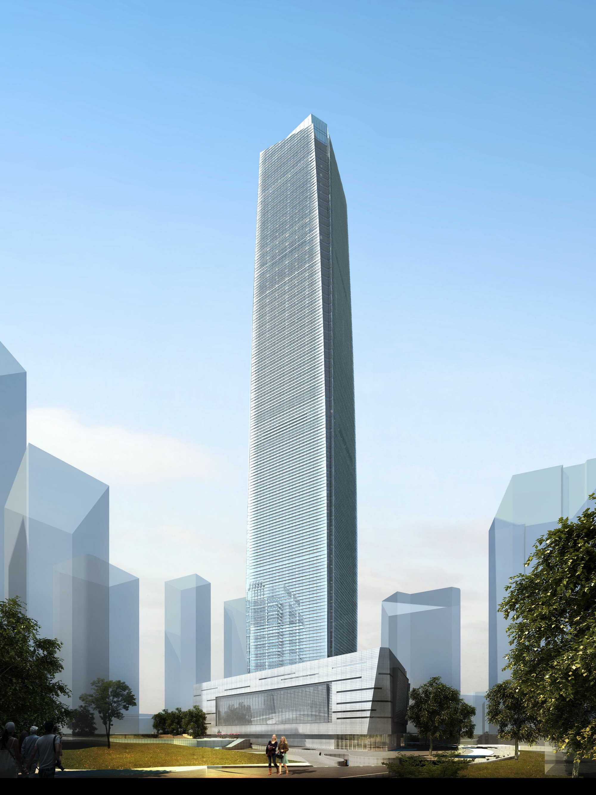 skyscraper business center 018 3d model max psd 205994