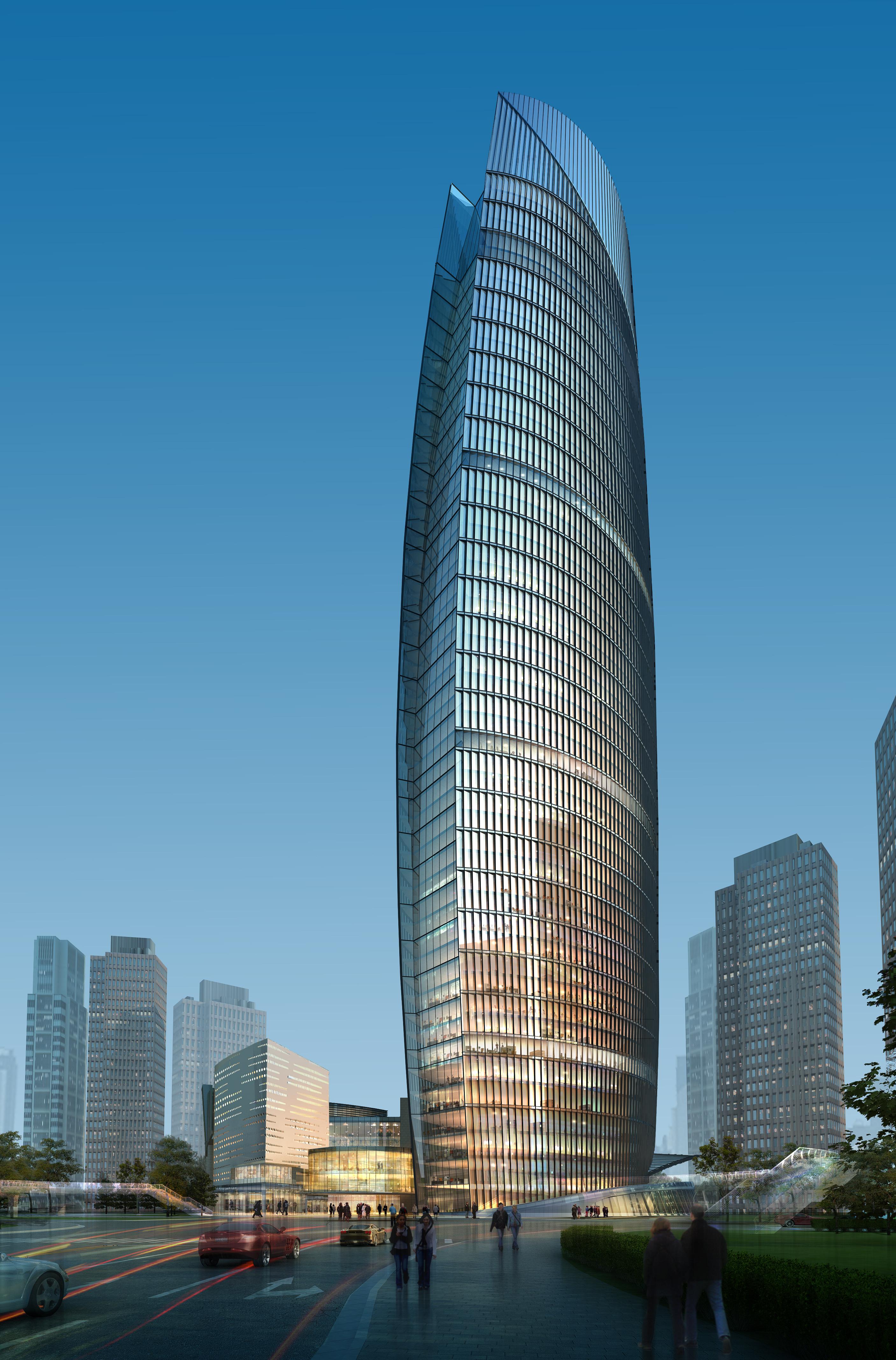 skyscraper business center 025 3d model max 206008