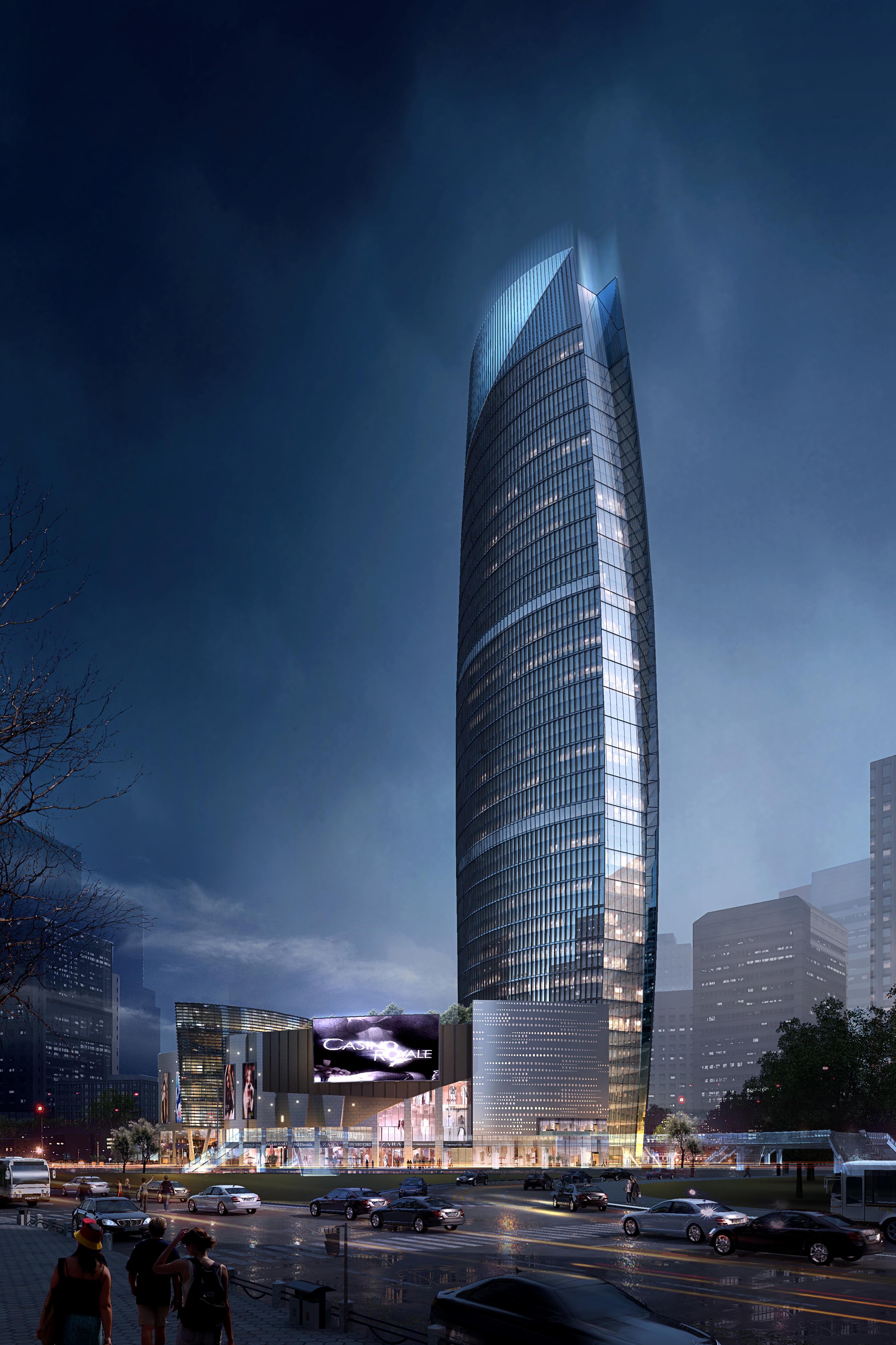 skyscraper business center 025 3d model max 206009